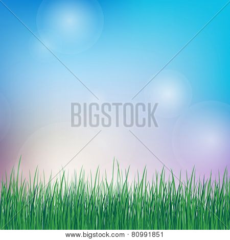spring or summer background with green grass. eps10