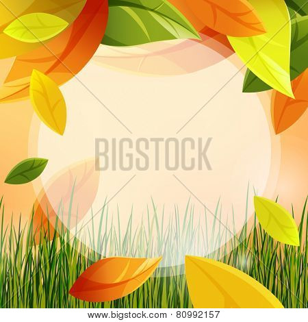 autumn background with leaf fall. eps10