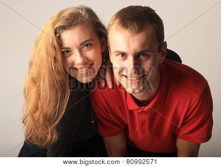 portrait of the young man and young woman