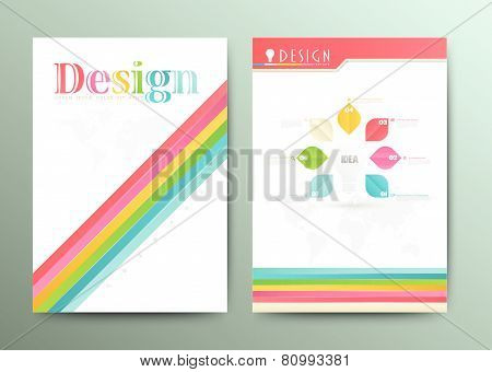 Design Abstract Vector Brochure Template.