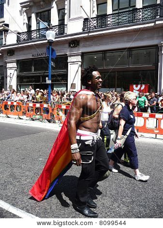 Gay Pride Parade Day 2010 In Central London 3Rd July 2010