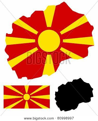 Macedonia map and flag vector