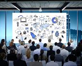 image of seminars  - Business People Seminar Conference Meeting Office Training Concept - JPG