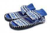 picture of homemaker  - a pair of slipper socks on a white background - JPG