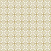 image of octagon  - Geometric fine abstract vector pattern with golden octagons - JPG