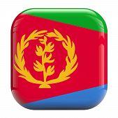 foto of eritrea  - Eritrea flag square icon image isolated on white - JPG