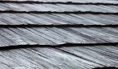 pic of shingles  - Old wooden shingle roof. Wooden surface texture.