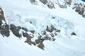 foto of firn  - Ice and snow nearby Jungfraujoch pass in Alps in Switzerland - JPG