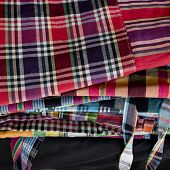 pic of loincloth  - Striped loincloth fabric colorful style cultural design - JPG