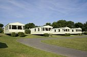 picture of caravan  - Static caravans standing on a camping site - JPG