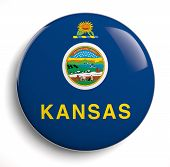 pic of kansas  - Kansas state flag isolated icon on white - JPG