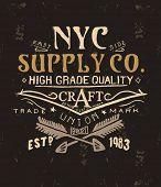 stock photo of apparel  - vintage typography for apparel 3 - JPG