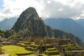 stock photo of wonderful  - Machu Picchu a Peruvian Historical Sanctuary in 1981 and a UNESCO World Heritage Site in 1983 - JPG