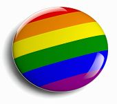 stock photo of gay pride  - Gay pride design icon isolated - JPG