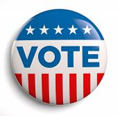 picture of election campaign  - Vote election campaign badge button - JPG