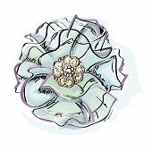 stock photo of brooch  - vector Illustration of fabric brooches and jewels - JPG