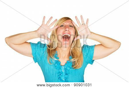 Stressed Out Screaming Woman