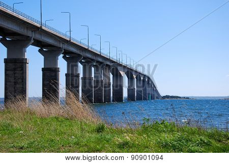 Oland Bridge In Sweden