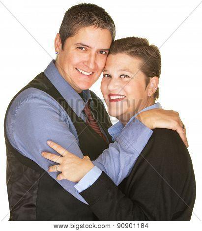 Happy Lesbian Sweethearts