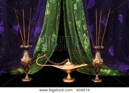 Oil Lamp And