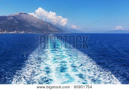 Boat trip in Greece