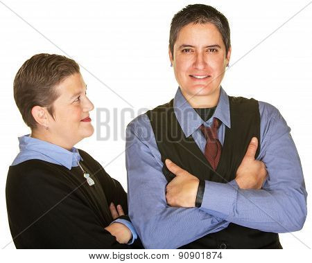 Lady Looking At Partner