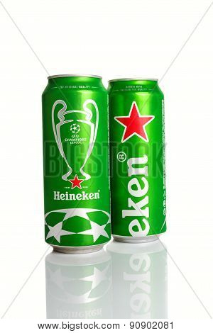 Heineken Beer Can With Uefa Champions League Logo