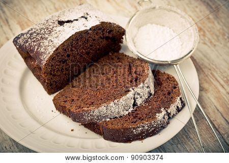 Vintage Photo Of Soft Homemade Gingerbread Cake