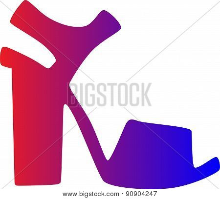 ultra fashionable sandals with a heel color banner . From a series of women's shoes.