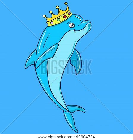 Dolphin wearing Crown