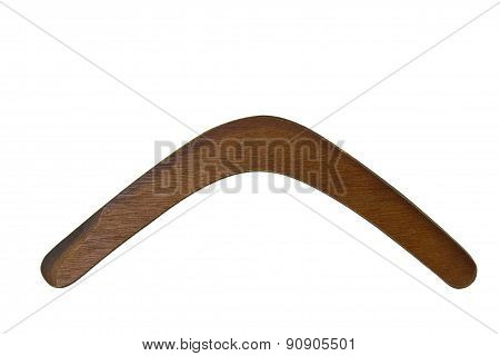 Boomerang, Plain Wood, White