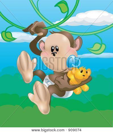Macaco de bebê fofo