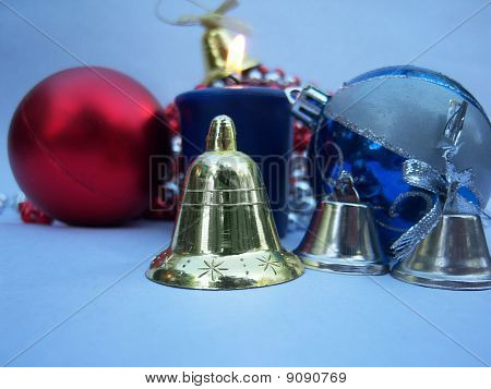 Bells, Candle And Christmas Globes