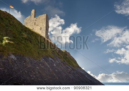Ballybunion Castle On The Cliff Face