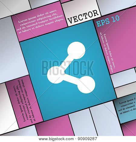 Share  Icon Sign. Modern Flat Style For Your Design. Vector