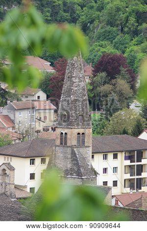French Village Cremieu - Tower Of Church