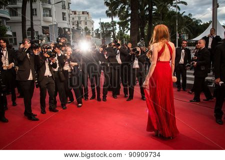 Guest attends the 'Carol' Premiere during the 68th annual Cannes Film Festival on May 17, 2015 in Cannes, France.