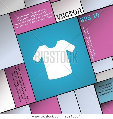 T-shirt, Clothes  Icon Sign. Modern Flat Style For Your Design. Vector