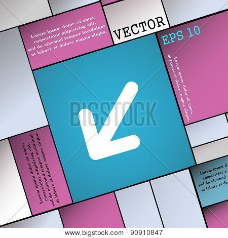 Turn To Full Screen Icon Sign. Modern Flat Style For Your Design. Vector