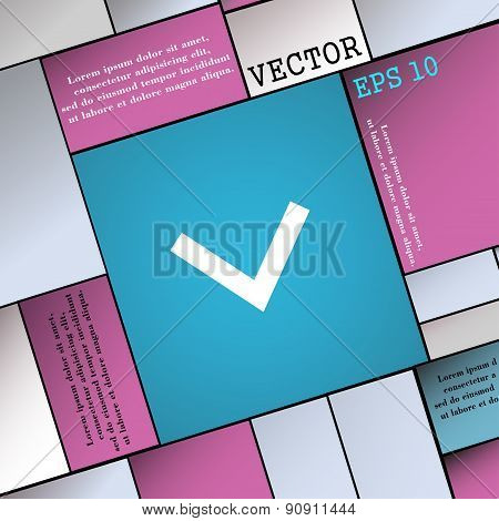 Arrow Down, Download, Load, Backup  Icon Sign. Modern Flat Style For Your Design. Vector