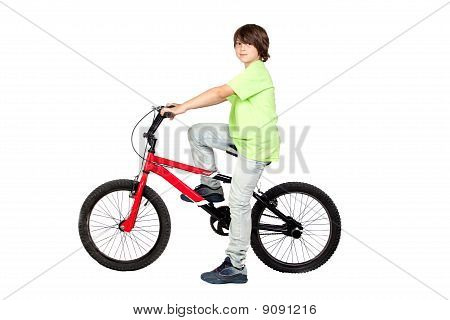Funny Child Practicing Bike