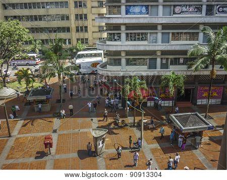Medellin Street Aerial View