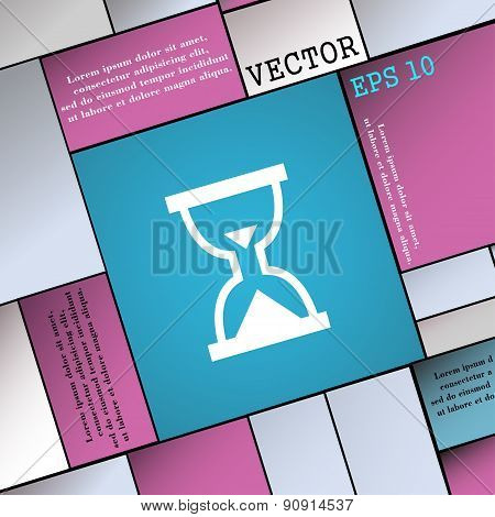 Hourglass, Sand Timer  Icon Sign. Modern Flat Style For Your Design. Vector