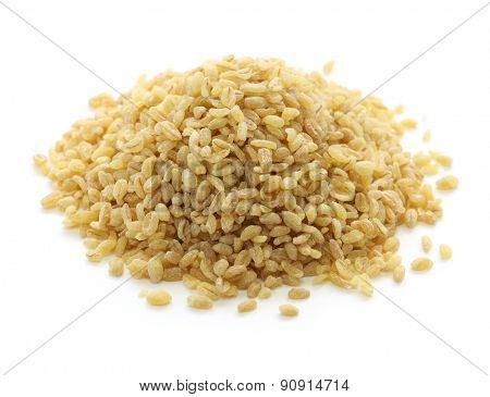 bulgur wheat, Turkish food isolated on white background