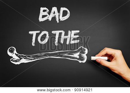 Hand writing the slogan