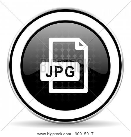 jpg file icon, black chrome button