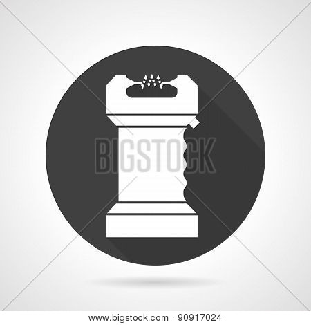 Electroshock black round vector icon