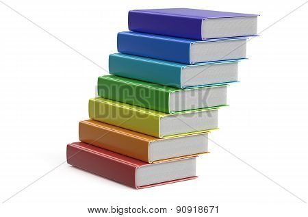 Heap Of Multicolored Books