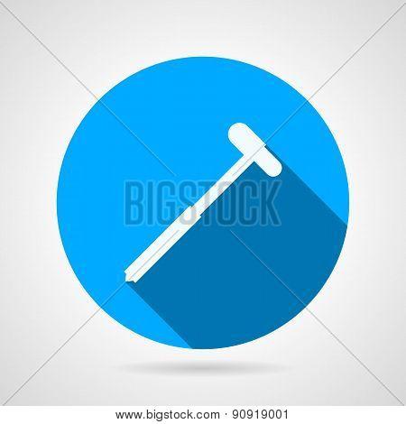 Reflex hammer flat round vector icon