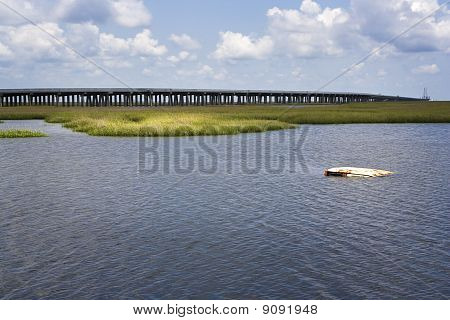 Sunken Truck & Grand Isle Bridge